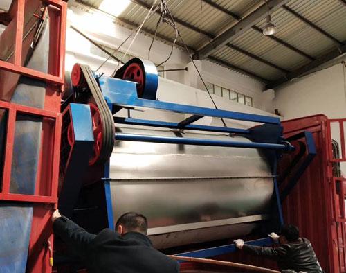 工业洗衣机发往扬州客户